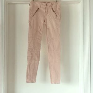 American eagle light pink stretch jeans